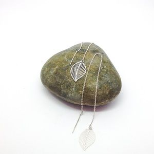 Leaf Filigree Pull-Through Earrings by Dragon Life